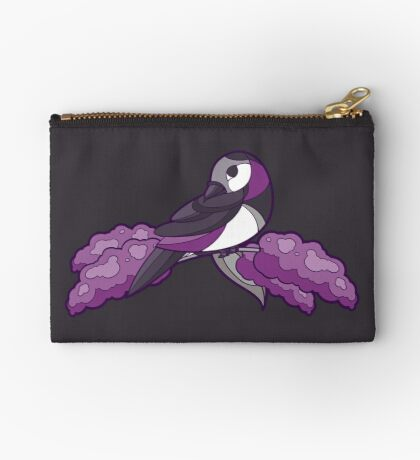 Pride Birds - Asexual, Demisexual, Grey-Asexual Zipper Pouch