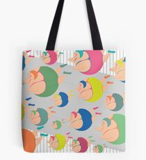 Synchronised Neon Swimmers Tote Bag