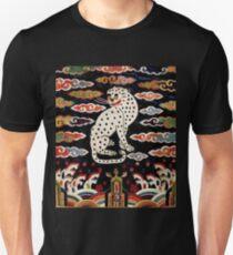 Vintage Chinese Snow Leopard design T-Shirt