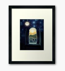 Night and Day, Moon and Sun Framed Print