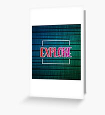 Explore Typography Greeting Card