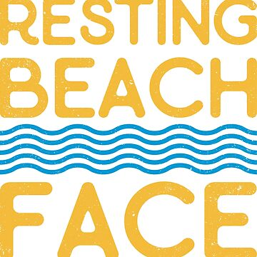 Resting Beach Face by powshirts