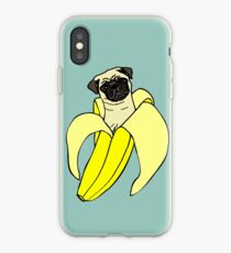 Vinilo o funda para iPhone Pug de banana
