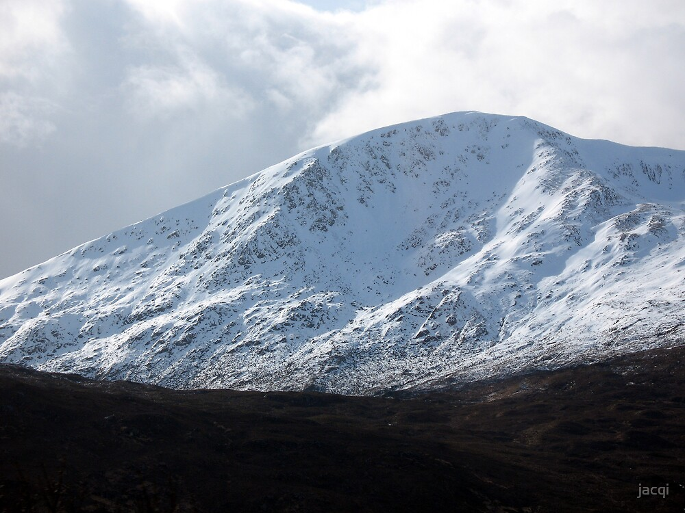Winter Mountains Kintail by jacqi