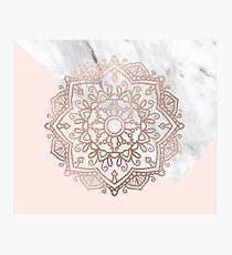 Vogue series - rose gold mandala Photographic Print