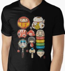 [Special Lucky Toy Box] Mens V-Neck T-Shirt