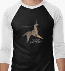 Origami unicorn Men's Baseball ¾ T-Shirt
