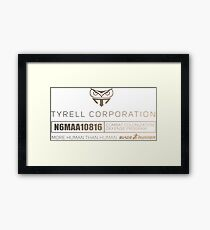 Tyrell corporation Framed Print