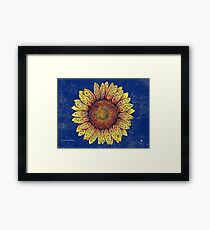 Swirly Sunflower Framed Print