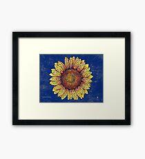 Swirly Sunflower Framed Print