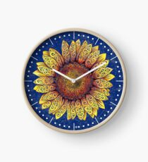 Swirly Sunflower Clock