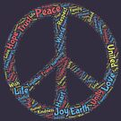 Peace Word Cloud by HandDrawnTees