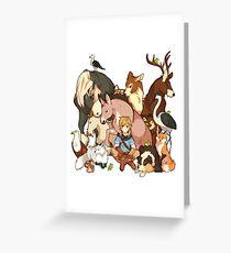 Zelda's Animals Greeting Card