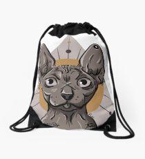 Tattooed / Pierced Sphynx Drawstring Bag