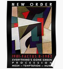 New order Factus 8 design Joy Division  Poster
