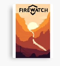 Firewatch horizion with logo Canvas Print