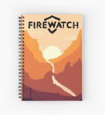 Firewatch horizion with logo Spiral Notebook
