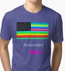 Joy Division New ORDER Technique 1989 Flag tour Promo Shirt Tri-blend T-Shirt