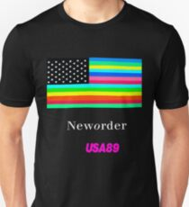 Joy Division New ORDER Technique 1989 Flag tour Promo Shirt T-Shirt