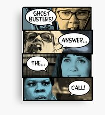 Ghostbusters Answer The Call Canvas Print