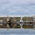 Five Churches of Mahone Bay Lunenburg County Nova Scotia Canada (view large) by AnnDixon