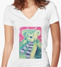 Teddy Scarf-face Women's Fitted V-Neck T-Shirt