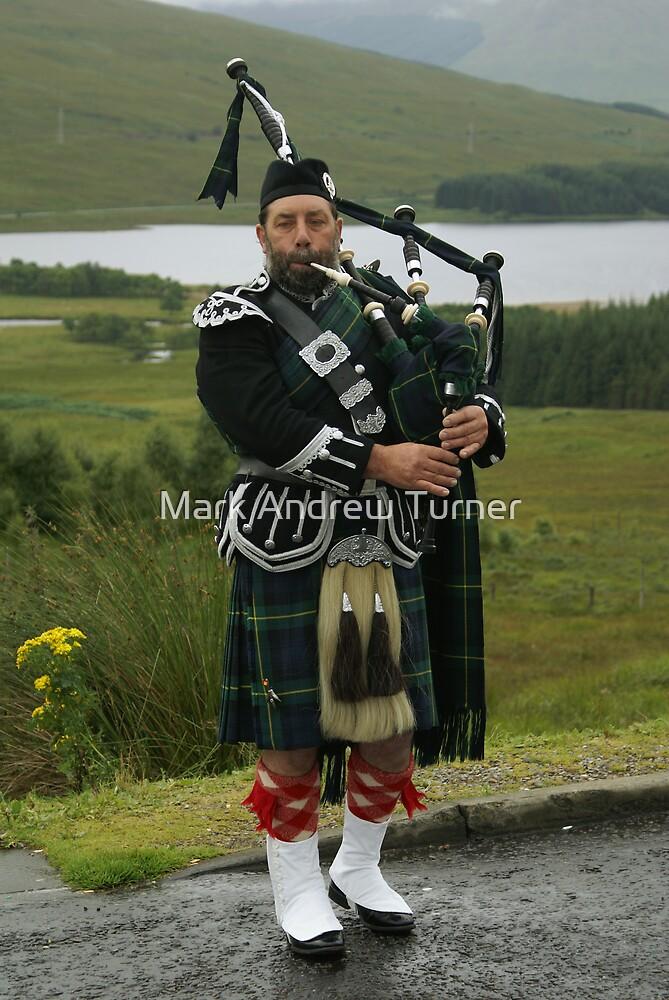 Scottish Piper by Mark Andrew Turner
