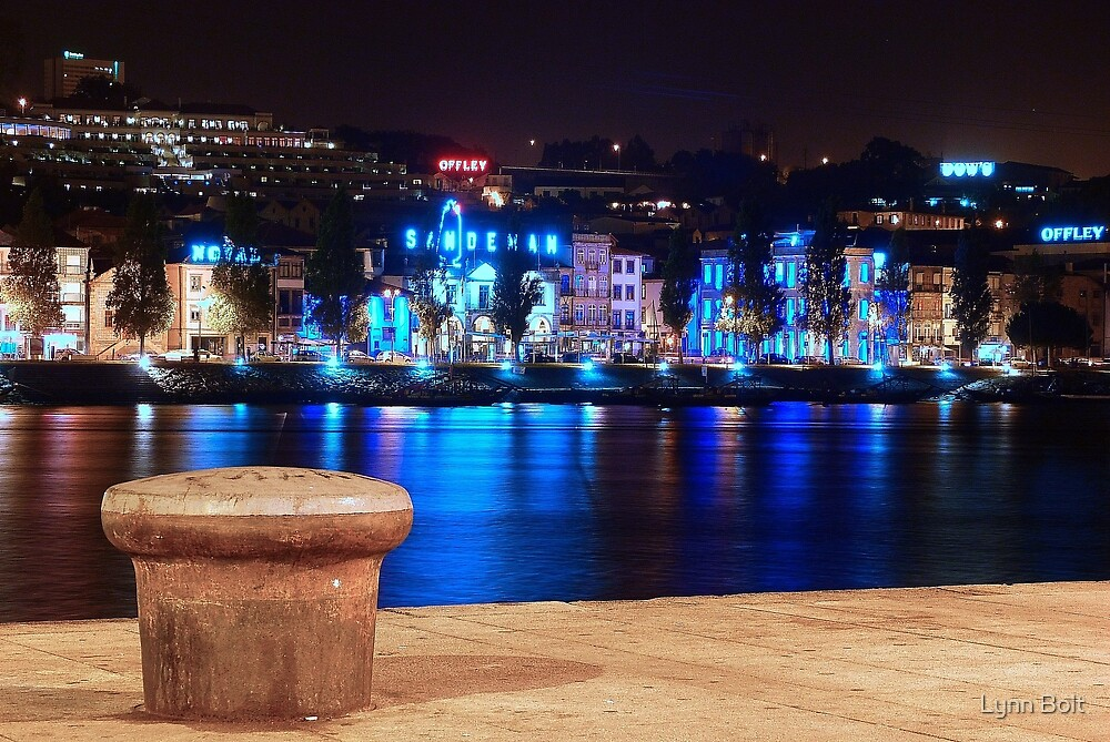 Oporto at Night by Lynn Bolt