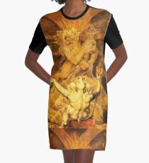 William Blake, The Number Of The Beast is 666  Graphic T-Shirt Dress