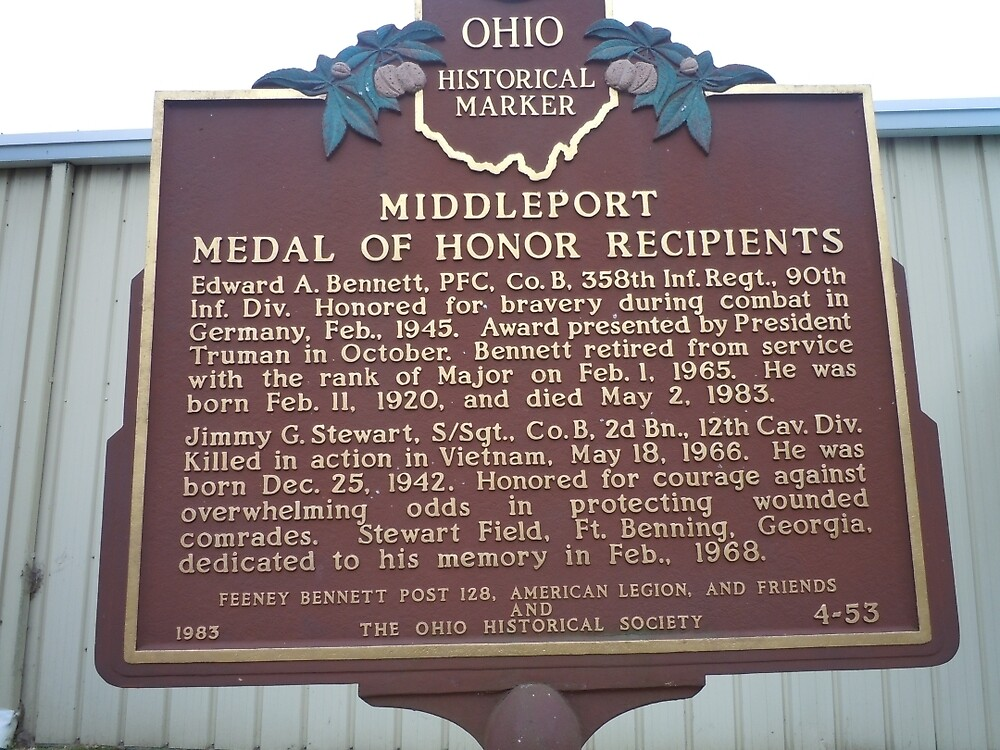 MIDDLEPORT MEDAL OF HONOR RECIPIENTS-HISTORICAL LAND MARK by James Gibbs
