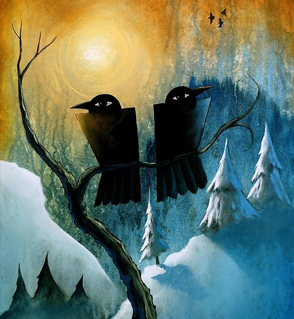 Two Ravens in a Tree by ArtistDavidKing