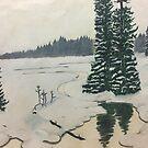 Winter Wilderness Drawing by ArtByJessicaJ