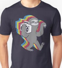 Langsame Marmeladen (Boombox Sloth) Slim Fit T-Shirt