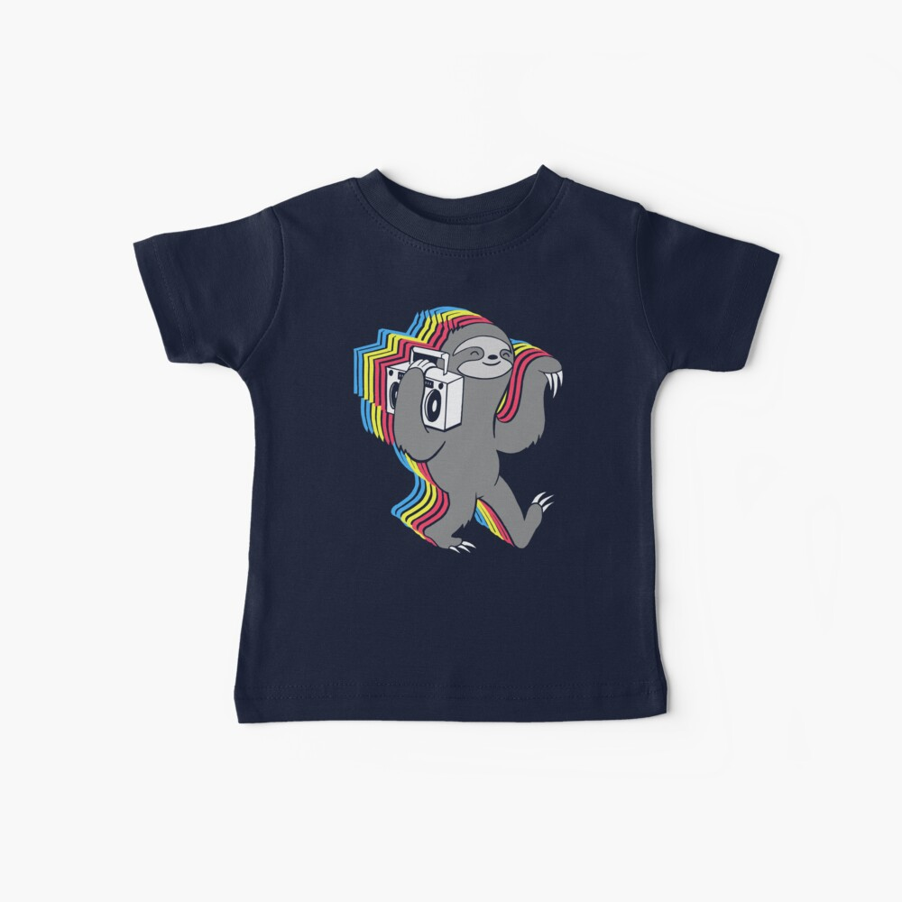 Slow Jams (Boombox Sloth)  Baby T-Shirt