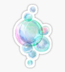 Watercolor soap bubbles Sticker