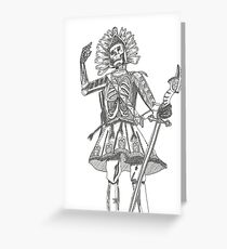 Warrior Battle Armour Skull Time Greeting Card