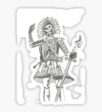 Warrior Battle Armour Skull Time Sticker