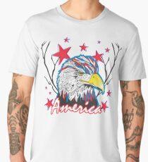 Fourth of July Bald Eagle Men's Premium T-Shirt