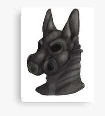 Anthro Gas Mask Canvas Print