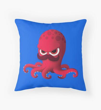 """Bubble Heroes - Boris the Octopus """"Solo"""" Edition Throw Pillow"""
