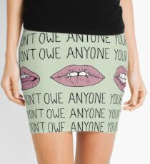 You Don't Owe Anyone Your Smile Mini Skirt