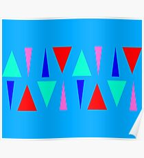 Color Block Triangles Poster