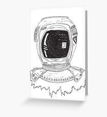 Space Man Greeting Card
