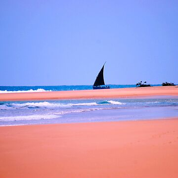 THE DOW.AND THE OPEN SEA, NATIVE FISHERMANSBOAT IN MOZAMBIQUE by mags