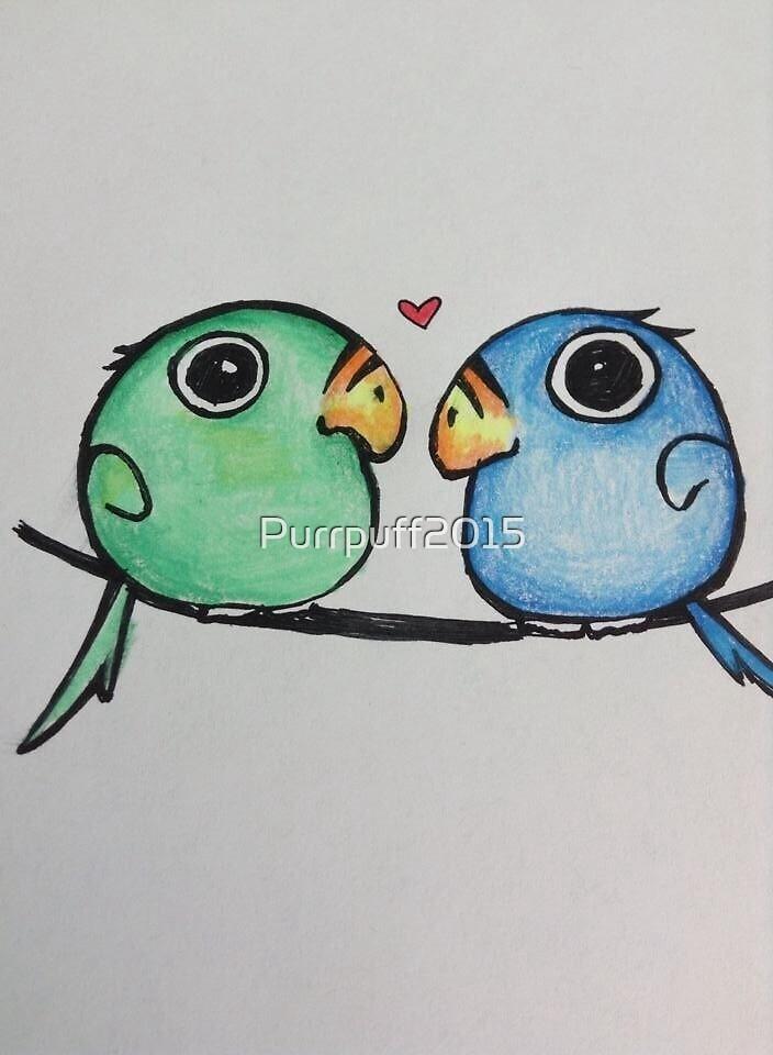 Love birds  by Purrpuff2015