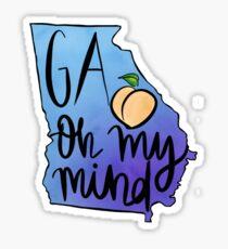 on my mind Sticker