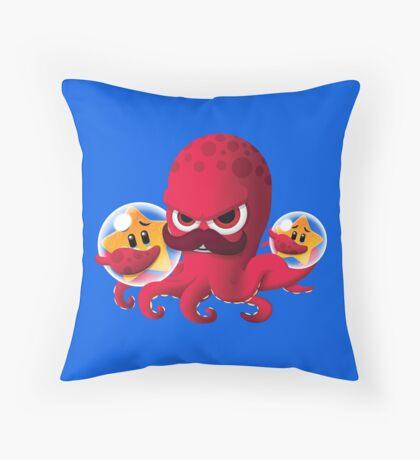 "Bubble Heroes - Boris the Octopus ""Starfish"" Edition Throw Pillow"