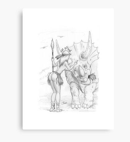 Bad Dino!!! Canvas Print