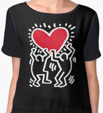 Keith Haring Love Women's Chiffon Top