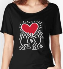 Keith Haring Love Women's Relaxed Fit T-Shirt